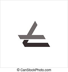 abstract letter tl geometric line logo vector
