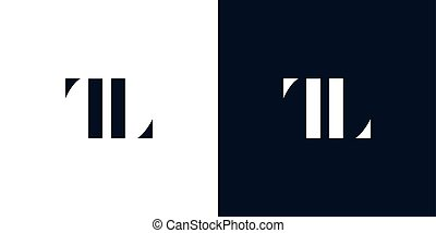Abstract letter TL logo. This logo incorporate with abstract typeface in the creative way.It will be suitable for which company or brand name start those