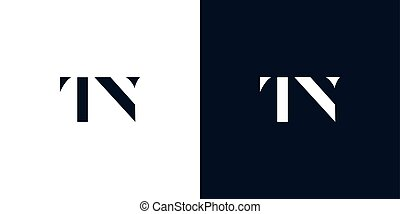Abstract letter TN logo. This logo incorporate with abstract typeface in the creative way.It will be suitable for which company or brand name start those