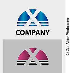 Abstract letter X icon