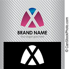 Abstract letter x logo