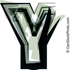 Abstract Letter Y illustration