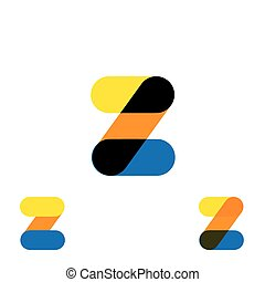 abstract letter Z logo design vector template and colorful creative character icon sign