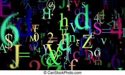 Abstract letters and symbols