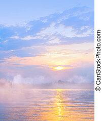 abstract, licht, zee, zomer, achtergrond