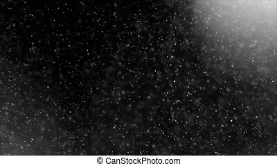 Dust Cloud Isolated Black Background Bubble Bokeh Abstract light and Dust Particles