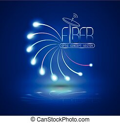 Abstract Light and line. Vector illustration. Can use for...