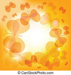 Abstract light background with butterflies