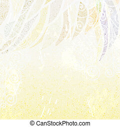 Abstract light  beige floral background