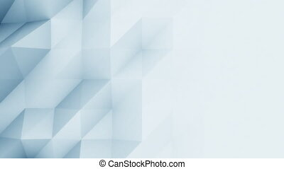 Abstract light blue 3D polygonal motion background for modern reports and presetations. 4K seamless loop animation, ProRes
