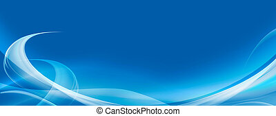 abstract light blue background, wavy lines with copy space