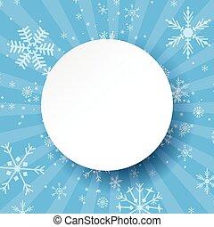 Abstract light blue christmas card.