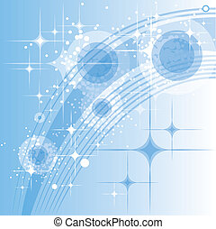 Abstract light blue circles with st