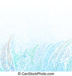 Abstract light   blue floral background