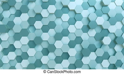 Abstract light blue hexagons - Light blue hexagons loopable...