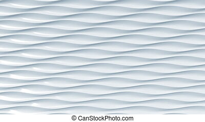 Abstract light blue plastic waves. Loopable motion background