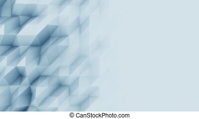 Abstract light blue polygonal motion background for modern reports and presetations. 4K seamless loop animation, ProRes