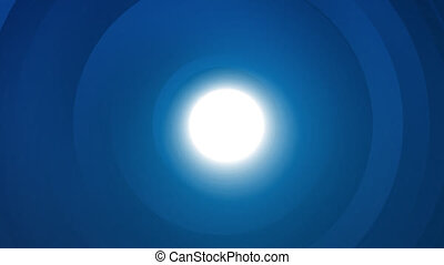 Abstract light blue shine tunnel circle background