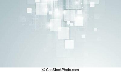 Abstract light blue tech geometric video animation