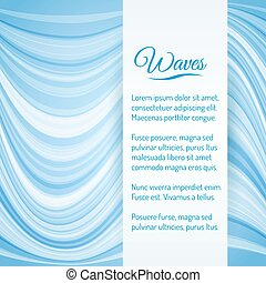 Abstract Light Blue Waves Vector Background
