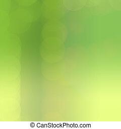 Abstract light blur green bokeh background