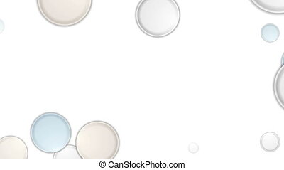 Abstract light colors circles video animation