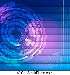 Abstract Light colors with technology background