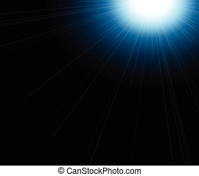 Abstract light flare background, beautiful rays of light