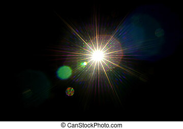 Abstract light flare background .