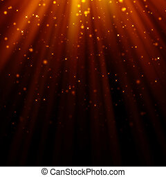 abstract light god and glitter background