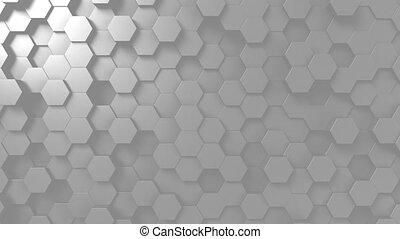 Abstract light gray hexagonal background - Abstract light...