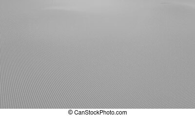 Abstract light gray wavy surface made of small balls