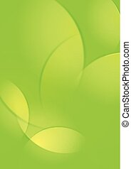 Abstract light green smooth waves background