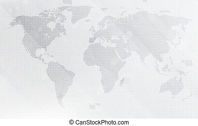 Abstract blue world map background digital global technology abstract light grey world map background digital global technology concept vector illustration gumiabroncs Image collections