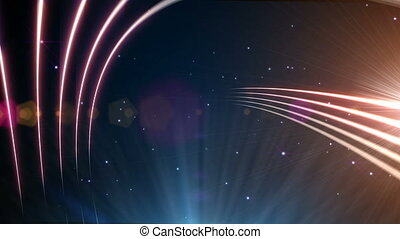 abstract light in space
