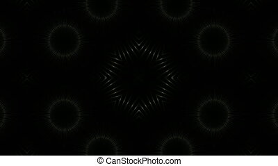 Abstract light kaleidoscope. Seamless loop. 3d rendering