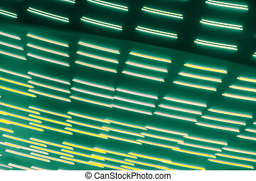 light lines on dark green background