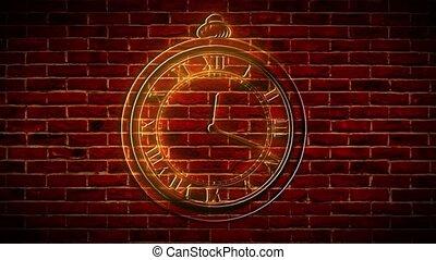 abstract light mechanical clock, video - abstract light ...