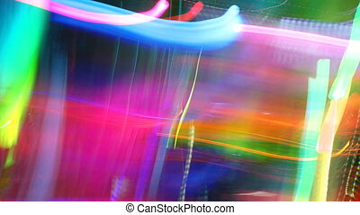abstract light pattern made from stop motion at a concert