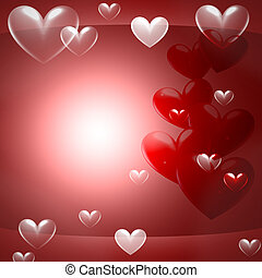abstract light red background with hearts