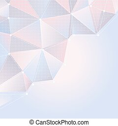 abstract light rose and blue background with polygonal design