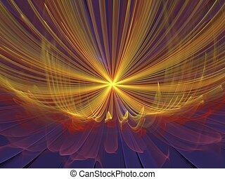 Abstract light shape