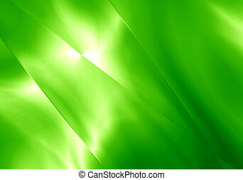 Abstract light shape green color background.