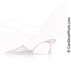 abstract light shoe - white background and the light ladys...