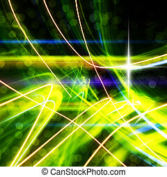 abstract light trails - abstract painting created by long ...