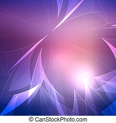 Abstract Light Wave with Blurred Background