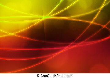 Abstract Light Waves Backdrop