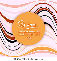 Abstract Light Waves Vector Background