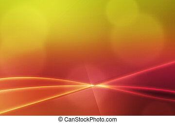 Abstract Light Waves Warm Backdrop