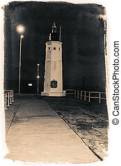 Abstract Lighthouse at night